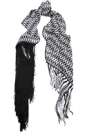 MISSONI Fringe-trimmed knitted scarf