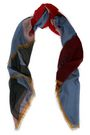VALENTINO Fringe-trimmed cashmere and silk-blend scarf