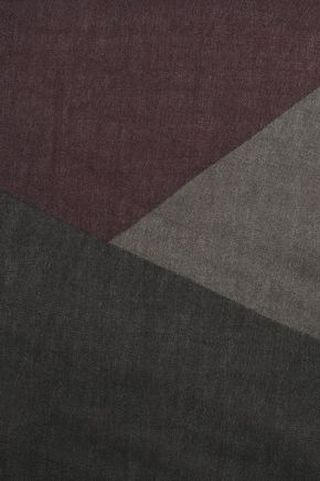 ヴァレンティノ フリンジトリム カシミヤ&シルク混 スカーフ