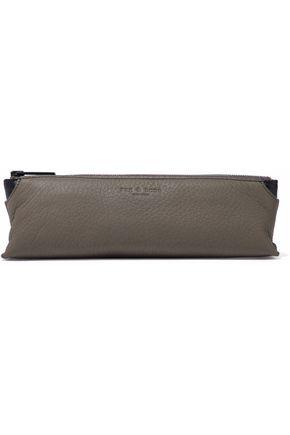RAG & BONE Pebbled-leather pencil case