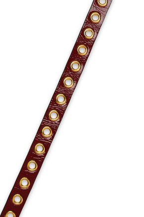 RED(V) Patent-leather belt