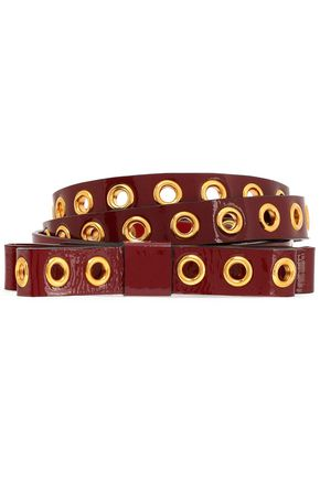 RED(V) Patent-leather belt
