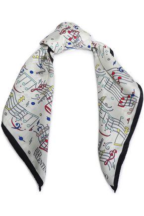 REDValentino Printed silk-twill scarf