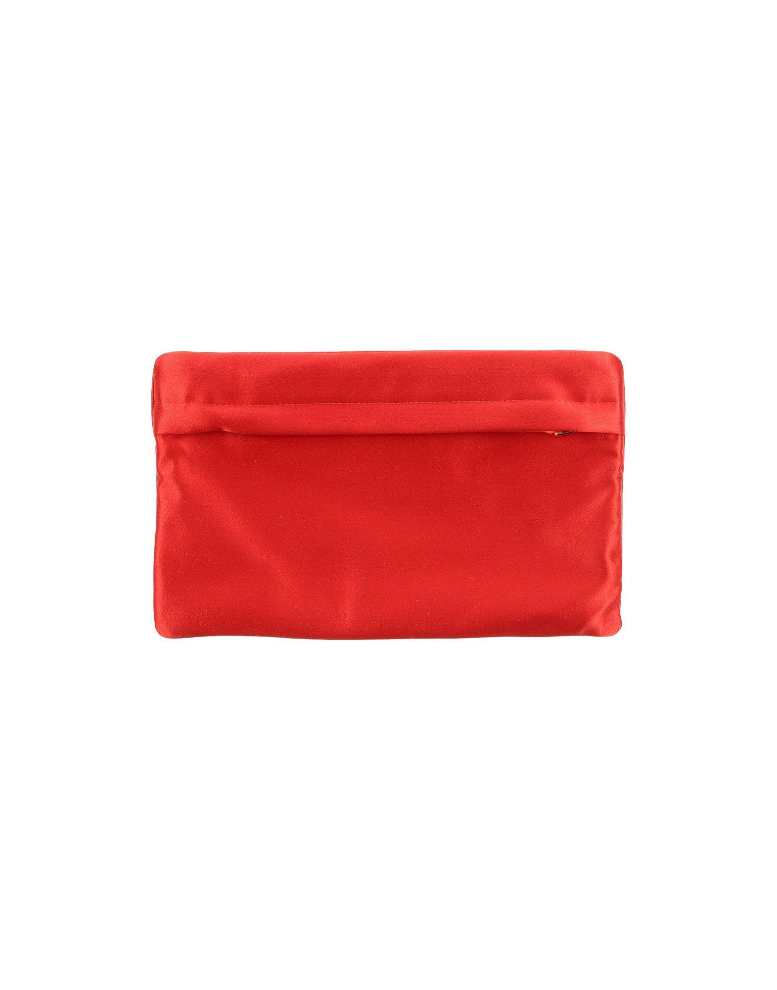 《送料無料》PRADA レディース ポーチ レッド 紡績繊維