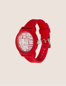 ARMANI EXCHANGE POP ART RED SILICONE STRAP WATCH Fashion Watch Man d