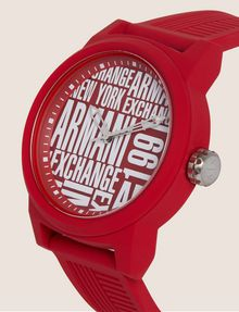 ARMANI EXCHANGE POP ART RED SILICONE STRAP WATCH Fashion Watch Man r