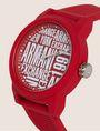 ARMANI EXCHANGE POP ART RED SILICONE STRAP WATCH Watch Man r