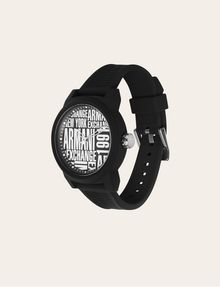 ARMANI EXCHANGE POP ART BLACK SILICONE STRAP WATCH Fashion Watch [*** pickupInStoreShippingNotGuaranteed_info ***] d