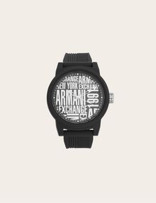 ARMANI EXCHANGE POP ART BLACK SILICONE STRAP WATCH Fashion Watch [*** pickupInStoreShippingNotGuaranteed_info ***] f