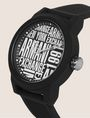 ARMANI EXCHANGE POP ART BLACK SILICONE STRAP WATCH Fashion Watch [*** pickupInStoreShippingNotGuaranteed_info ***] r