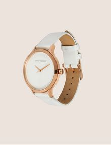 ARMANI EXCHANGE MINIMALIST LEATHER BAND WATCH Fashion Watch Woman d