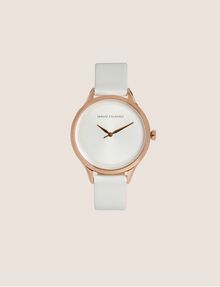 ARMANI EXCHANGE MINIMALIST LEATHER BAND WATCH Fashion Watch Woman f