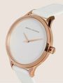 ARMANI EXCHANGE MINIMALIST LEATHER BAND WATCH Fashion Watch Woman r