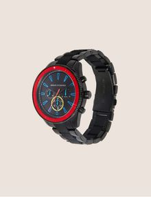 ARMANI EXCHANGE BLACK AND RED CHRONOGRAPH BRACELET WATCH Watch Man d