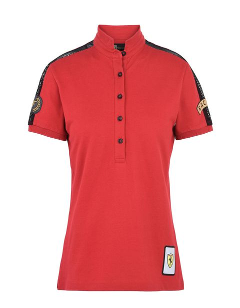 Scuderia Ferrari Online Store - Paddock collection women's polo shirt - Short Sleeve Polos