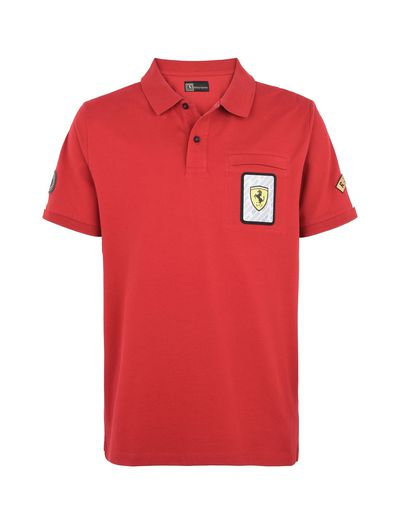 Scuderia Ferrari Online Store - Paddock collection men's polo shirt -