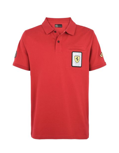Scuderia Ferrari Online Store - Paddock collection men's polo shirt - Short Sleeve Polos