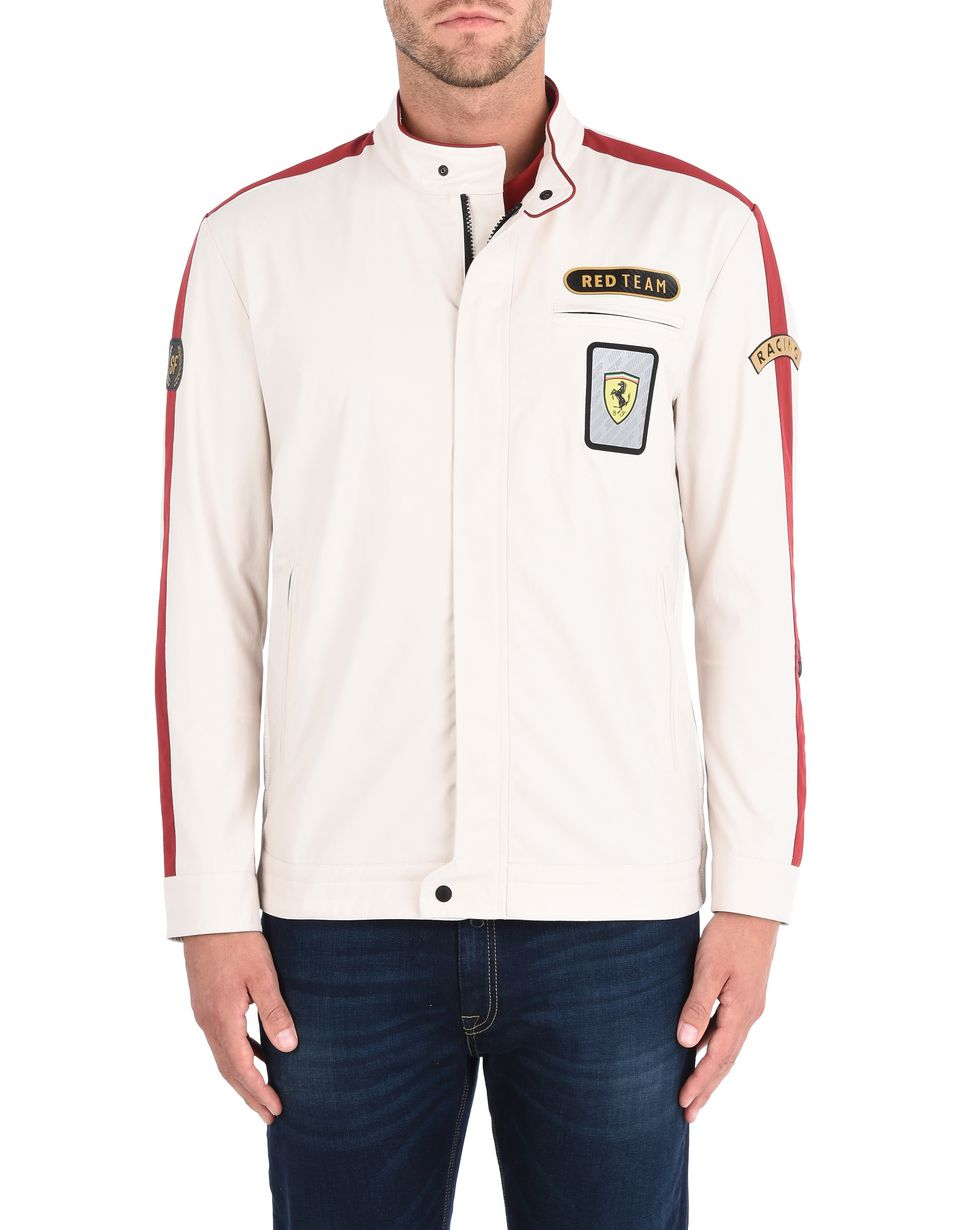 Scuderia Ferrari Online Store - Paddock collection men's bomber jacket - Bombers & Track Jackets