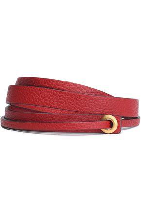 VALENTINO Textured-leather belt