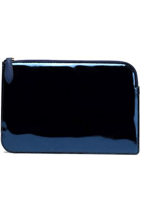 DIANE VON FURSTENBERG Two-tone leather pouch