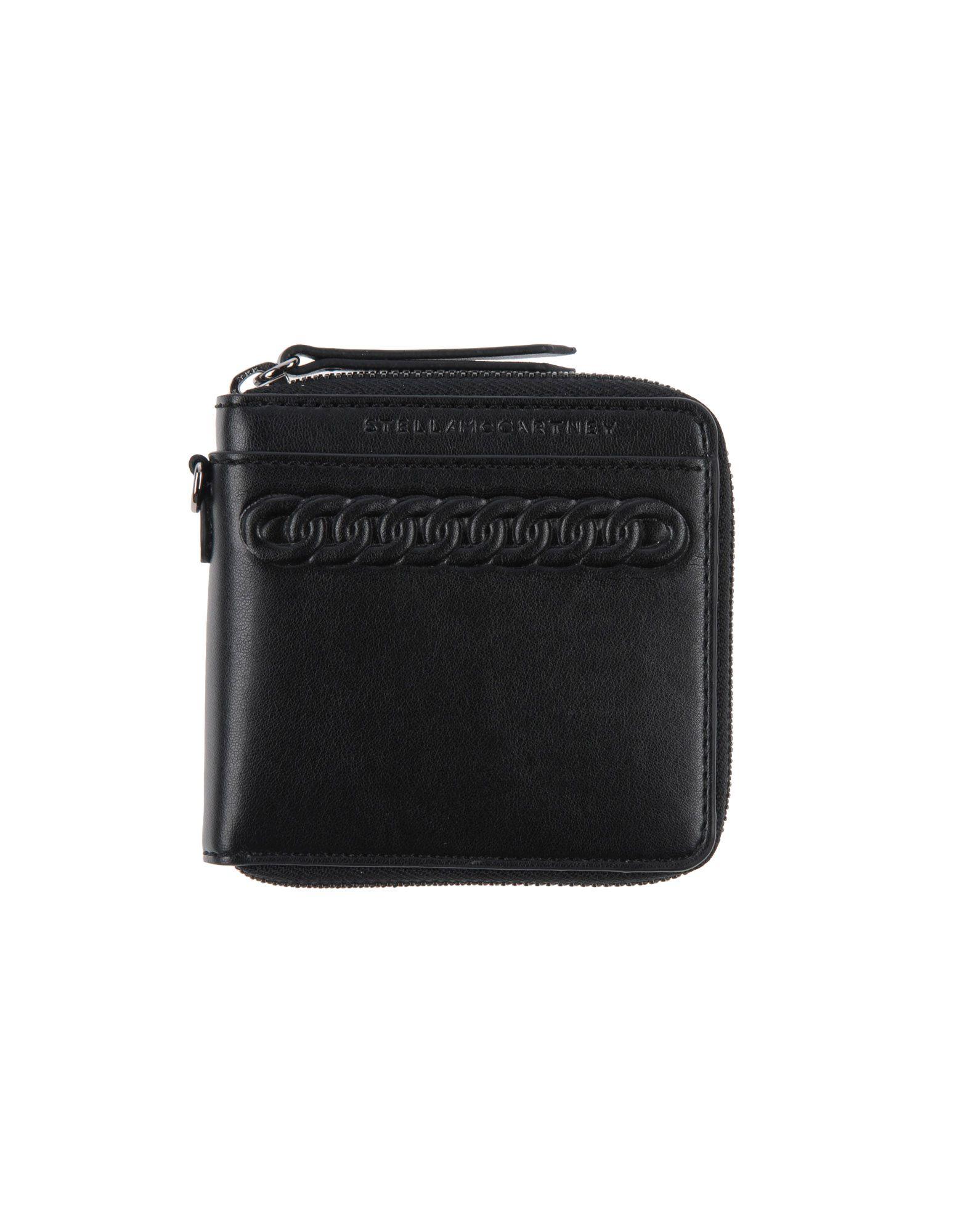 《送料無料》STELLA McCARTNEY レディース 財布 ブラック 紡績繊維