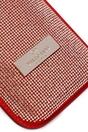 VALENTINO GARAVANI Crystal-embellished leather iPhone 5/5S/SE case