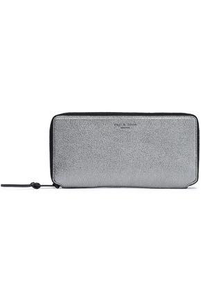 RAG & BONE Metallic leather wallet
