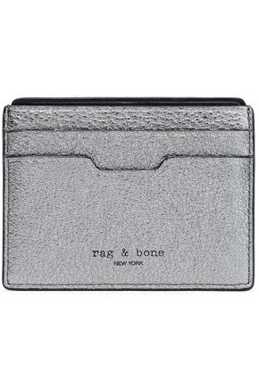 RAG & BONE Metallic leather card case