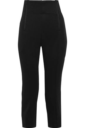 Y-3 + adidas cropped zip-detailed jersey track pants