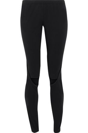 Y-3 + adidas Nomad cropped cutout stretch-cotton leggings
