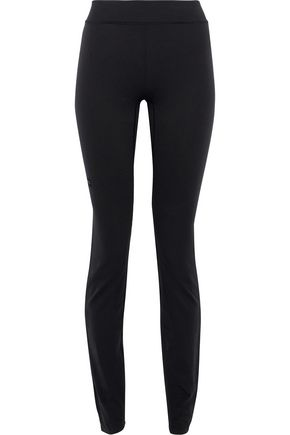 Y-3 + adidas mesh-paneled stretch leggings