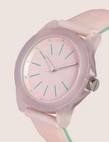 ARMANI EXCHANGE Montre en silicone avec cadran transparent Fashion Watch [*** pickupInStoreShipping_info ***] r