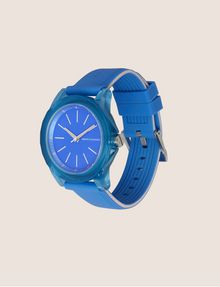 ARMANI EXCHANGE BLUE SILICONE STRAP WATCH Fashion Watch Woman d