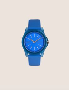 ARMANI EXCHANGE BLUE SILICONE STRAP WATCH Fashion Watch Woman f