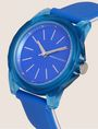 ARMANI EXCHANGE BLUE SILICONE STRAP WATCH Fashion Watch Woman r
