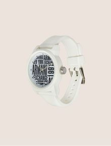ARMANI EXCHANGE POP ART WHITE SILICONE STRAP WATCH Fashion Watch [*** pickupInStoreShippingNotGuaranteed_info ***] d
