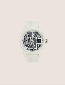 ARMANI EXCHANGE POP ART WHITE SILICONE STRAP WATCH Fashion Watch [*** pickupInStoreShippingNotGuaranteed_info ***] f