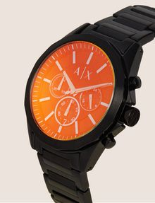 ARMANI EXCHANGE CRONOGRAFO IN ACCIAIO A MAGLIE CON QUADRANTE A CONTRASTO Watch Man r