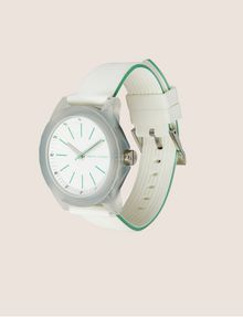 ARMANI EXCHANGE MINT AND WHITE SILICONE STRAP WATCH Fashion Watch Woman d