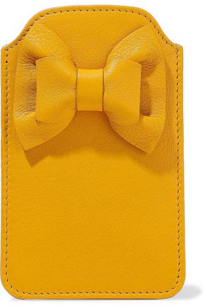 RED(V) Bow-embellished leather phone case