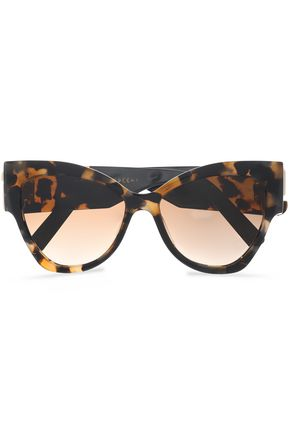 MARC JACOBS Cat-eye tortoiseshell acetate sunglasses