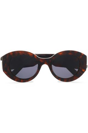MARC JACOBS Round-frame tortoiseshell acetate sunglasses