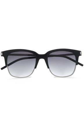 MARC JACOBS D-frame silver-tone sunglasses