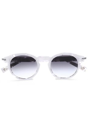 MARC JACOBS Round-frame printed acrylic sunglasses