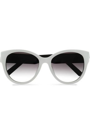 MARC JACOBS Cat-eye two-tone acetate and silver-tone sunglasses