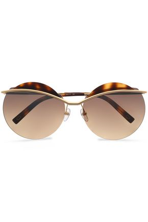 MARC JACOBS Round-frame gold-tone sunglasses