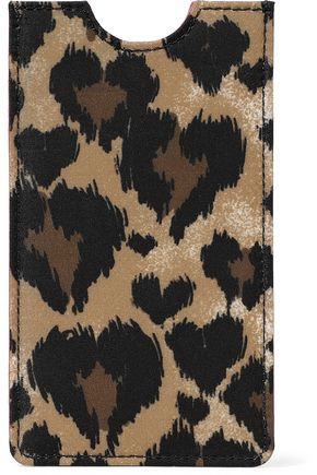 RED(V) Leopard-print faille phone case