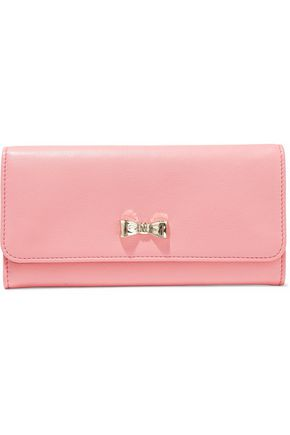 REDValentino Bow-detailed textured-leather wallet
