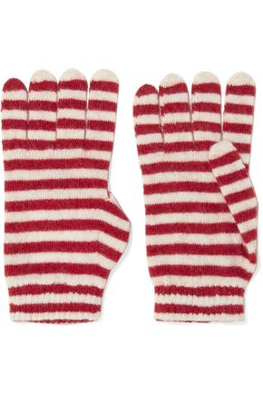 REDValentino Striped knitted gloves