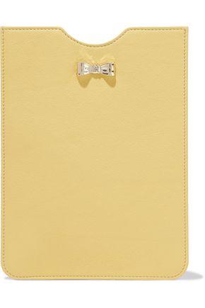 REDValentino Bow-embellished leather tablet case